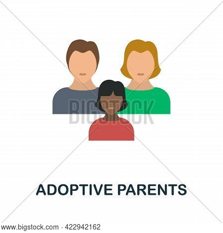 Adoptive Parents Icon. Flat Sign Element From Child Adoption Collection. Creative Adoptive Parents I