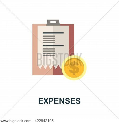 Expenses Icon. Flat Sign Element From Child Adoption Collection. Creative Expenses Icon For Web Desi