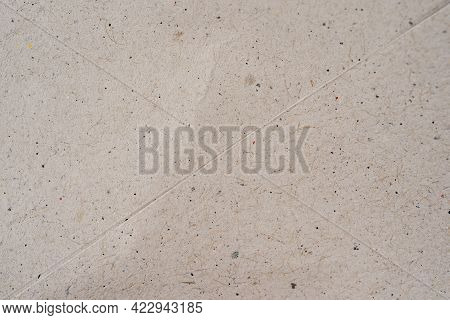 Seamless Texture Of Vintage Recycled Paper For Background Or Design Use, Close Up Top View With Visi