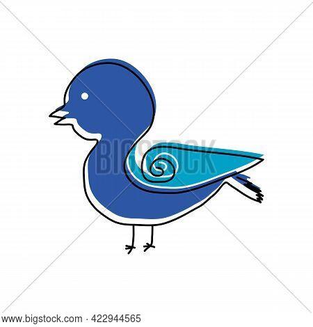 Illustration Vector Graphic Of Line Art Unique Bird Logo