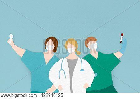 Coronavirus medical staff characters banner