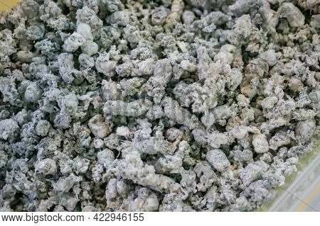 Plastic Recycling, Renewable Resource - Heap Of Secondary Soft Plastic Granules - Polystyrene, Polye