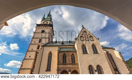 Town Castle In Kremnica, Important Medieval Mining Town, Slovakia, Europe.