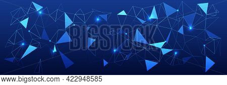 Abstract Futuristic Background. Hi-tech Business Presentation. Abstract Background With Triangles An