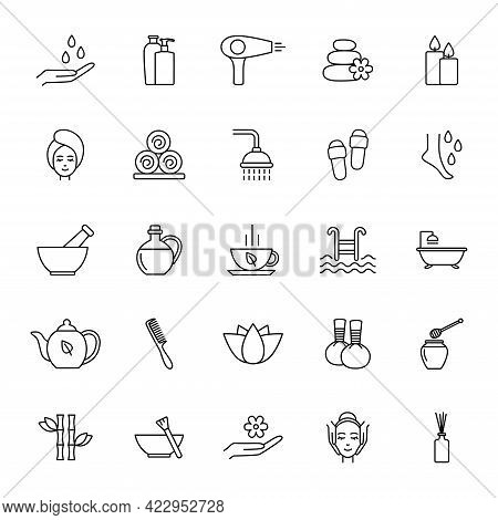 Set Of Spa Line Icons, Vector Illustration