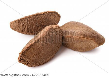 Brazilian Nuts  Isolated On A White Background