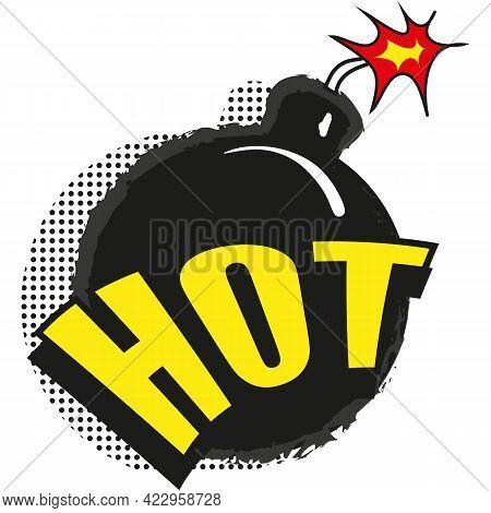 Hot Sale Bomb Price Blast Vector Icon On White
