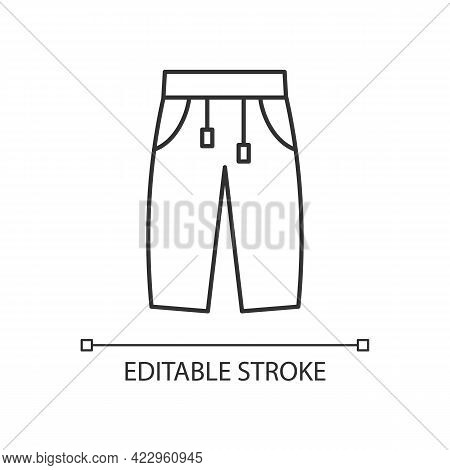 Sweatpants Linear Icon. Women Pants. Men Trousers. Unixes Trackpants For Home Wear. Thin Line Custom