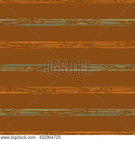 Linear Geometric Stripe Seamless Vector Pattern Background. Coarse Painterly Brush Stroke Striped Ba