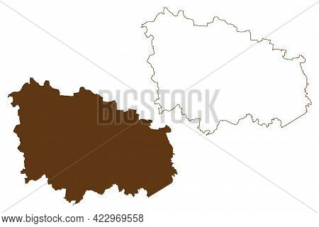 Wittenberg District (federal Republic Of Germany, Rural District, Free State Of Saxony-anhalt) Map V