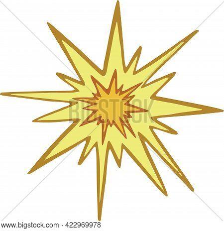 Modern Starlight Icon Star Symbol And Vector