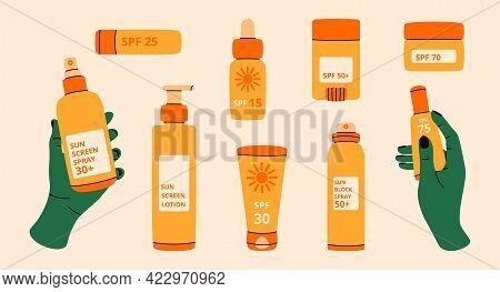 Sun Spray. Cartoon Spf Sun Rays Block Lotion, Beach Sunblock Beauty Cosmetics, Summer Skin Care Loti