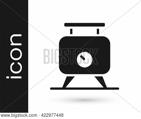 Black Metal Tank With Grape Juice As Alcoholic Fermentation Icon Isolated On White Background. Vecto