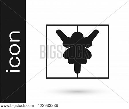Black Rorschach Test Icon Isolated On White Background. Psycho Diagnostic Inkblot Test Rorschach. Ve