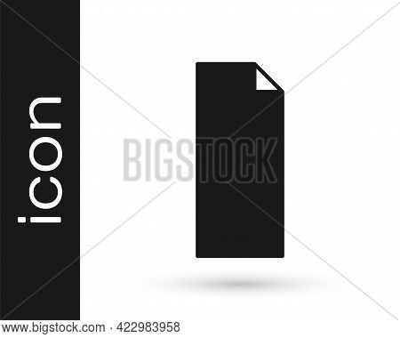 Black Grip Tape On A Skateboard Icon Isolated On White Background. Vector