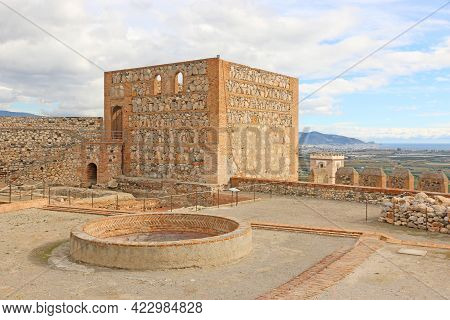 Tower Of The Moorish Castle Of Salobrena In Spain