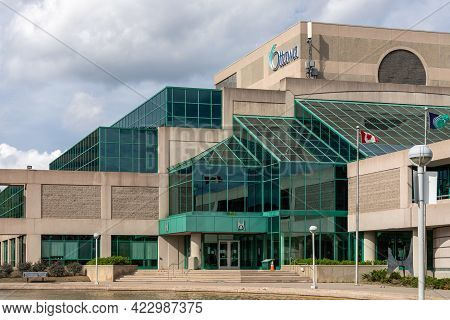Nepean Centrepointe Public Library Building In Ottawa, Canada