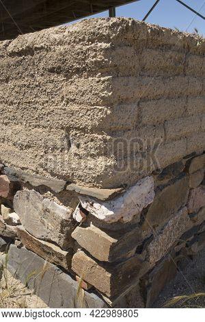 Campanario, Spain - May 17th 2018: La Mata Archeological Site. Impressive Protohistoric Building Pla