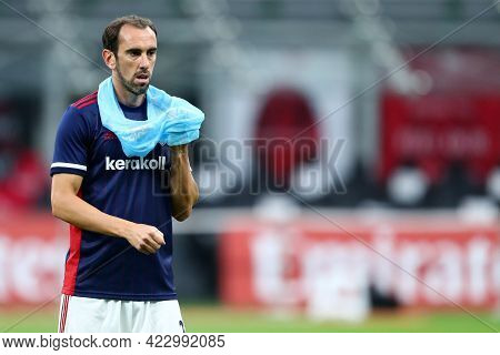 Milano, Italy. 16 May  2021. Diego Godin Of Cagliari Calcio  During The Serie A Match Between Ac Mil