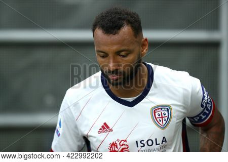 Milano, Italy. 16 May  2021. Joao Pedro Of Cagliari Calcio  During The Serie A Match Between Ac Mila