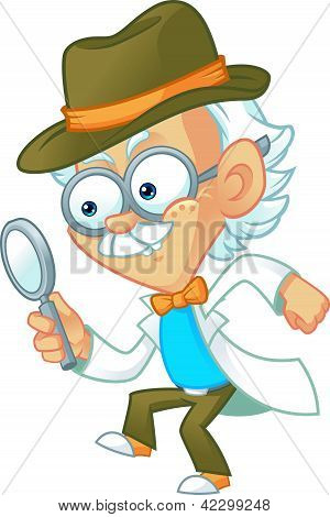 Genius Professor Playing Detective