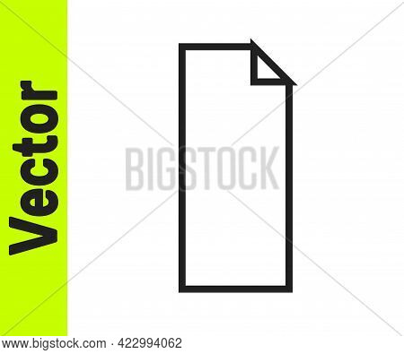 Black Line Grip Tape On A Skateboard Icon Isolated On White Background. Vector