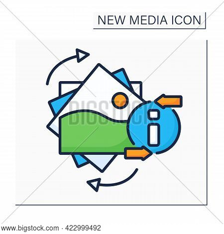 Gifs Color Icon. Graphics Interchange Format. Animated Picture. Information Space. New Media Concept