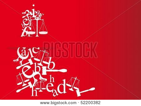 Note Cards And Invitation Of Law Degree With Symbols