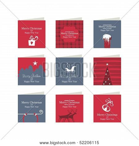 Christmas Mini Cards Set