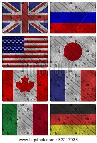 G8 Wooden Flags