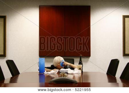 Drunk Woman In The Boardroom