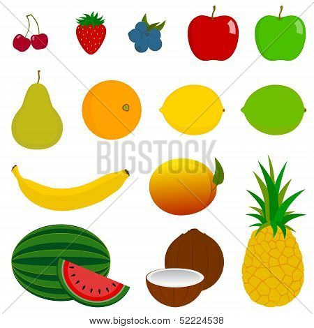 14 Fresh Fruit Icons