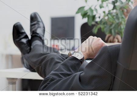 Lazy Disrespectful Businessman