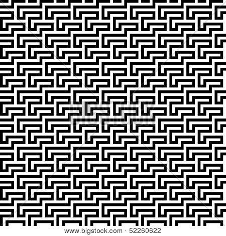 Seamless funky labyrinth mesoamerican monochrome fashion pattern poster