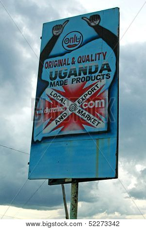 Handmade Product Sign in Uganda Africa
