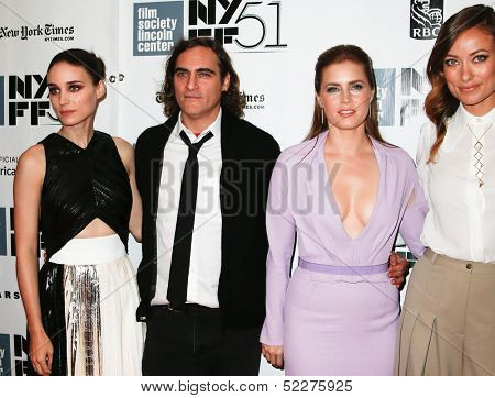 NEW YORK-OCT 12: Cast members attend the premiere of