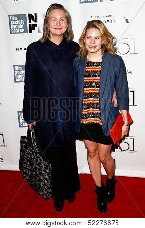 NEW YORK- OCT 8: Actors Cherry Jones and Celia Keenan-Bolger (R) attend the premiere of
