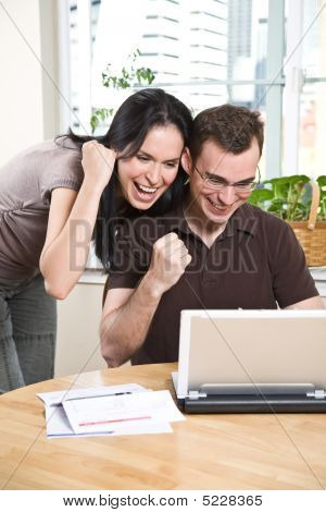 Happy Couple Online Banking