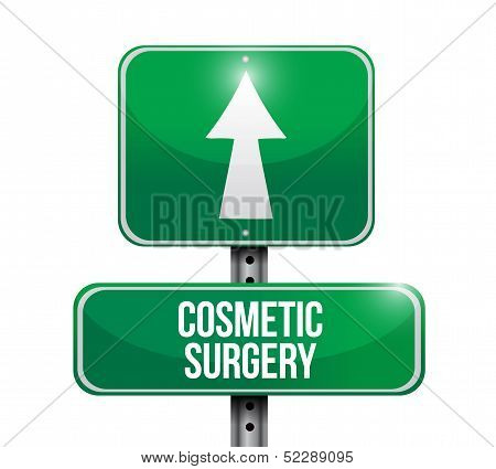 Cosmetic Surgery Road Sign Illustration Design