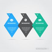 Pin Step by Step Infographics / EPS10 Vector Illustration / poster