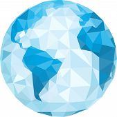 polygonal globe. Vector illustration. This is file of EPS8 format. poster