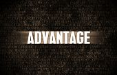 Advantage in Business as Motivation in Stone Wall poster