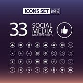 Flat Web & Mobile Icons Set / EPS10 Vector Illustration / poster