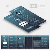 Flat Mobile Web UI Concept / EPS10 Vector Illustration / poster