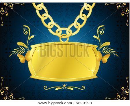 gold sign illustration
