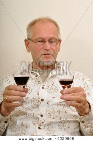 Senior Man Having A Good Time