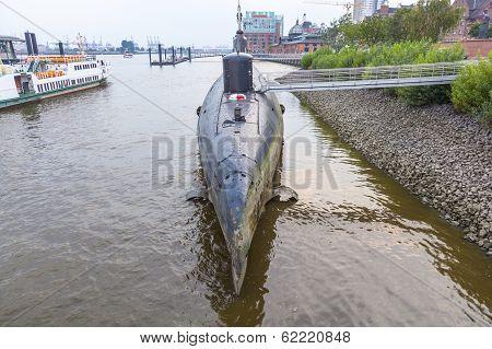 Submarine In Port Of Hamburg