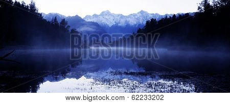 Lake Matheson with Mt Cook, New Zealand