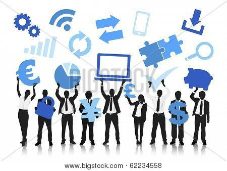 Vector of Business and Computer Icons