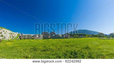 The castle of Lefkada in Greece